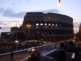 Photo of   colosseum from bus