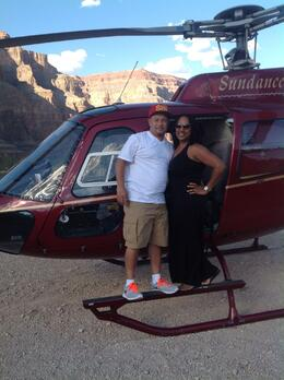 Photo of Las Vegas Grand Canyon All American Helicopter Tour Image of Donna and Paul