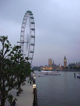 We went for a walk and looked back over the London Eye from one of the bridges. Beautiful! - April 2008