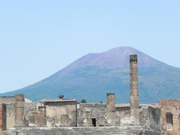 This area was the and quot;city center and quot;. We were there on a clear day which allowed for this breathtaking view of Mt. Vesuvius beyond the city. , srjones76 - July 2012
