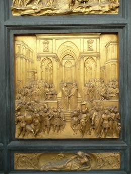 Photo of   One of the Panels of the Baptistery Doors