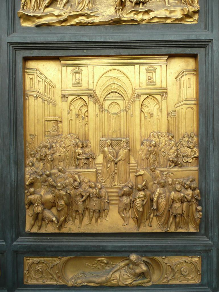 One of the Panels of the Baptistery Doors - Florence
