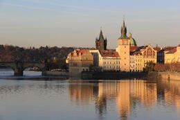 The city of Prague and the Charles Bridge as seen from the Vltava River. , Rosanna P - November 2013