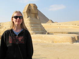Myself, in front of the grand Sphinx! , Rachel S - December 2012