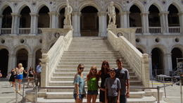Standing in front of the Doges Palace , Scott F - August 2012