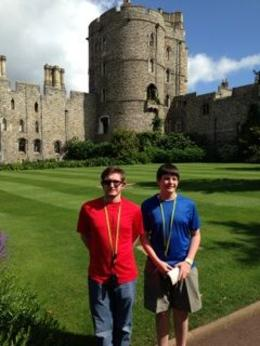 My sons outside Windsor Castle , James N - June 2014
