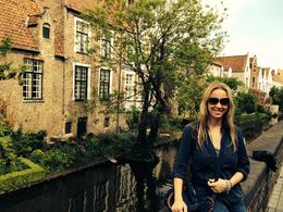 By the canal in Bruges , Egija B - May 2015