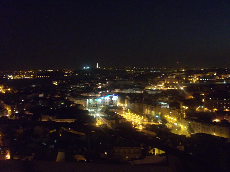 facinating view of lisbon city by night - Lisbon