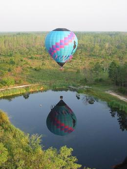 Hot Air Balloon lake reflection - October 2009