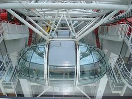 Looking down at one of the London Eye pods. - April 2008