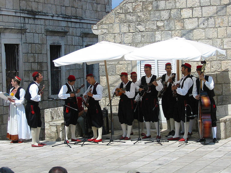 Musicians for the folk dances, Cilipi - Dubrovnik