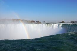 Nice view of the rainbow from top of the Canadian Falls, Carlos A - November 2008