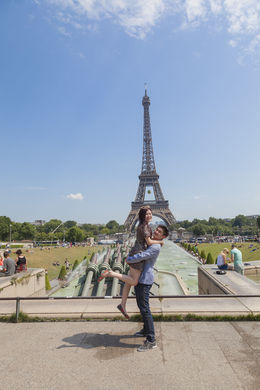 My Hubby and I at Eiffel Tower , wu_meimei5 - June 2015