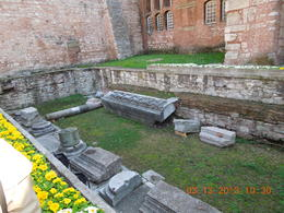 Next to Hagia Sophia museum is the ruins of the previous church. , John S - March 2013