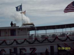 Stamboat Natchez steam driven pipe organ...really cool. , Diane G - January 2011