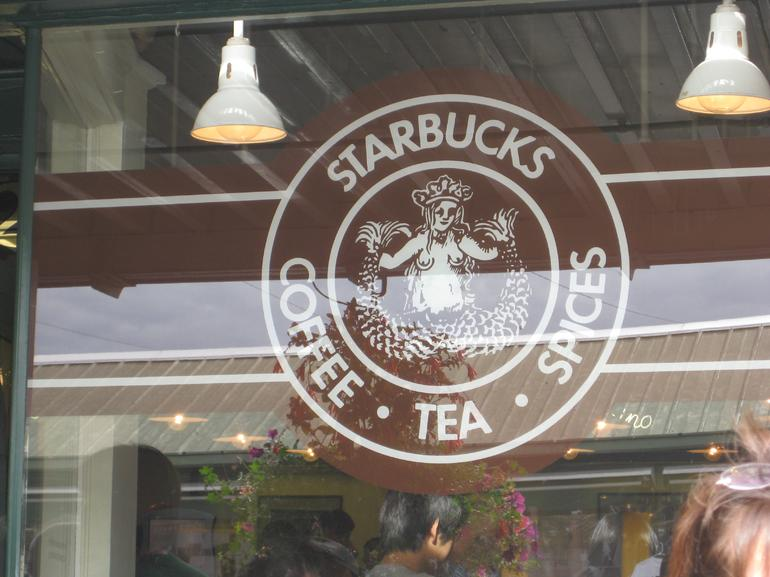 This is the original Starbucks Logo - Seattle