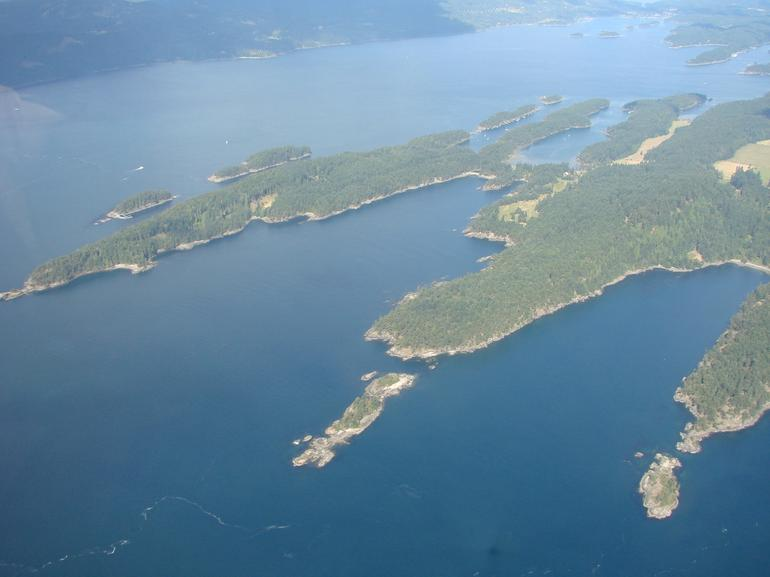 Vancouver seaplane tour - view from above - Vancouver