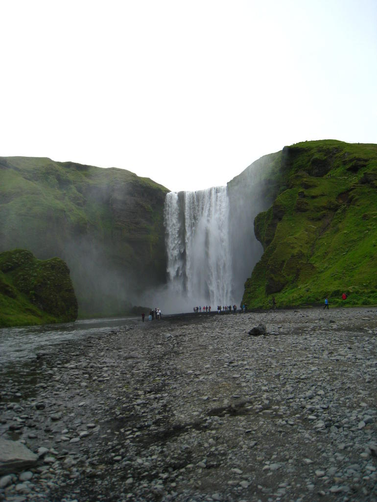 waterfall on the drive to Jokulsarlon - Reykjavik