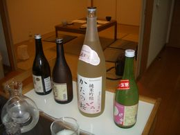 Sampling various kinds of Sake , Ben - November 2015