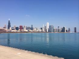 View of the Chicago Skyline from near the Adler Planetarium., laura s - June 2014