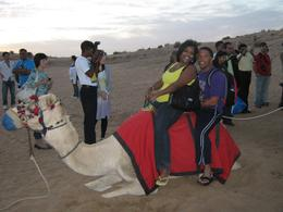 Alex and enjoyed our camel ride, Tracey B - November 2010