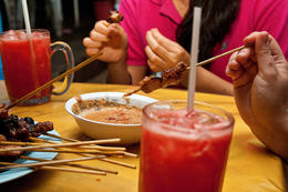 Satay and watermelon juice - July 2012