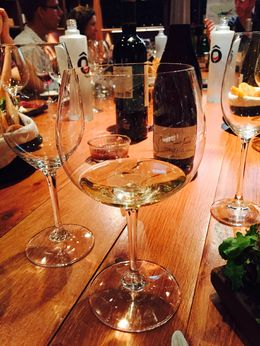 Friends gathering to share great French wines. , Ruth C. - July 2015