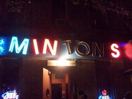 Sign outside Minton's Playhouse - September 2009