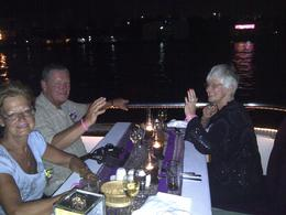 Photo of Bangkok Bangkok Dinner Cruise on the Chao Phraya River Table No 1 on boat
