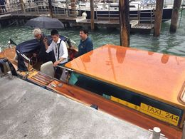 Here is the 'guide' getting out of the water taxi at the end. If you want the same experience, pay for a taxi ride yourself... , Michael L - June 2015