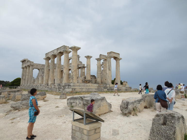Temple of Aphaia on Aegina Island, Greece - Athens