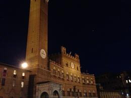 Photo of Florence Siena's Palio Horse Race from Florence Including City Tour and Dinner Tower in the piaza beutifuly lit