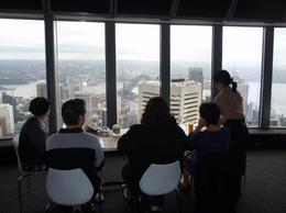 Taking in the view at our Family Champagne Breakfast at the Sydney Sky Tower. , sandyback - July 2011