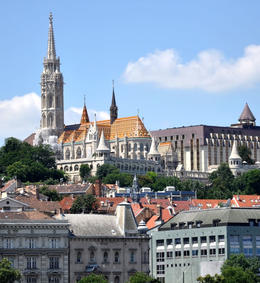Photo of   Budapest, Matthias Church and the Fishermen's Bastion on the Castle Hill