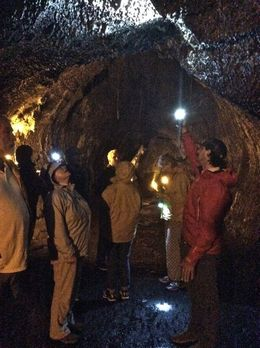 Inside the lava tube - incredible to walk through this at night and gain an understanding behind how these are formed , Judith A C - May 2015