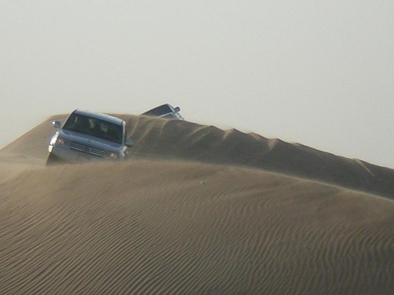 Landcruiser on the dunes - Dubai