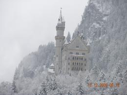 A long distance shot of the castle in the winter. - December 2009