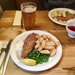 Our meal at Lacock pub , Elena K - February 2016
