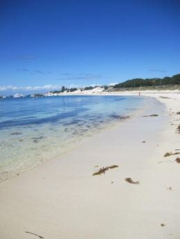 One of the many beaches at Rottnest island at its 22 small bays , Margarida A - November 2015
