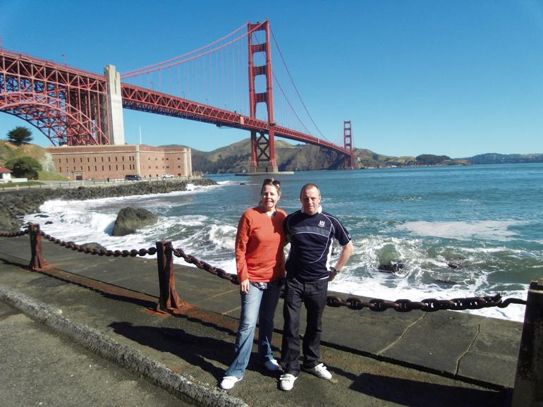 Having a great time at Golden Gate Bridge, San Francisco