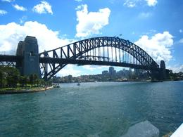 View of Sydney Harbour Bridge from our lunch table... - March 2010