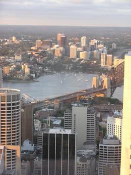 View of the bridge from the Sydney Tower Restaurant, Undercover Américan - October 2010