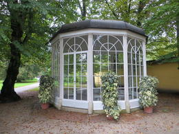 Thias shows the famous gazebo in Sound of Music. , Edward S - October 2014