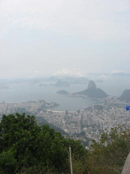 Cool view of Sugar Loaf Mountain from Corcovado., Bandit - September 2011