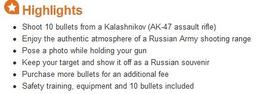 Photo of Moscow Moscow Shooting Experience: Shoot an AK-47 at the Central Shooting Club You cannot take a photo in the shooting place