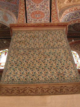 It is called the Blue Mosque for these tiles which cover much of the walls. , donald b - November 2012