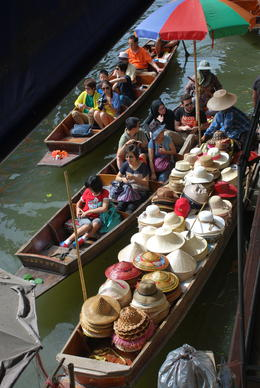 Vendors selling their wares on the floating markets. , Gethryn G - August 2013