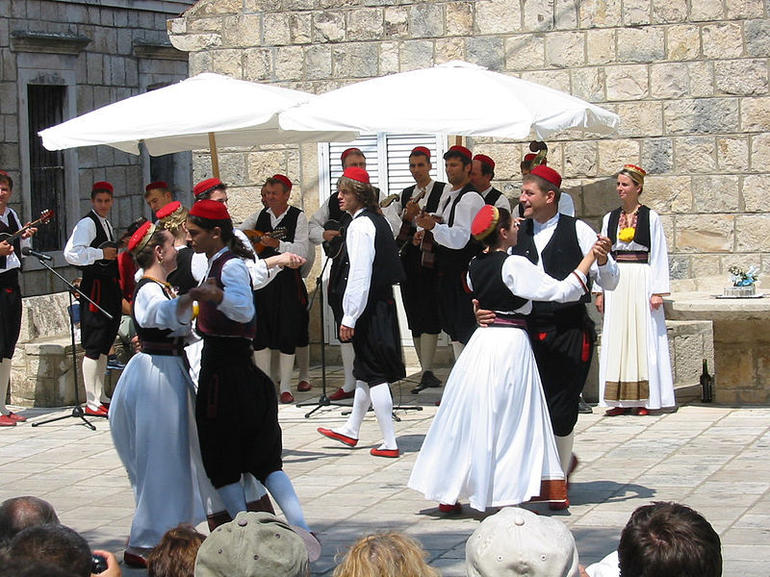Folk dancers in Cilipi, Croatia - Dubrovnik