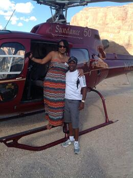 Photo of Las Vegas Grand Canyon All American Helicopter Tour Image of Michelle and Louis