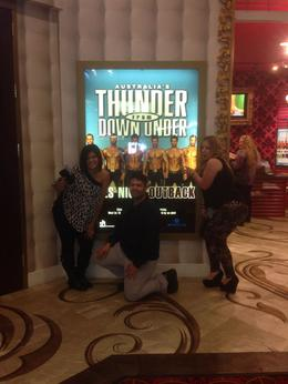 Photo of Las Vegas Thunder from Down Under at the Excalibur Hotel and Casino Me with my girls!